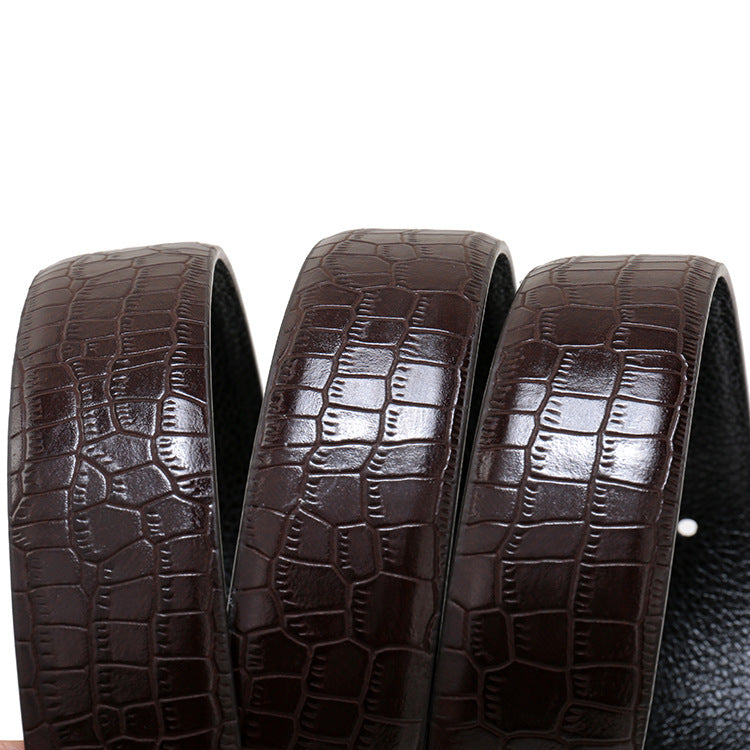 Business Crocodile Leather Belt