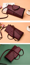 Alligator Pattern PU Leather Envelope Crossbody Clutch Messenger Bags