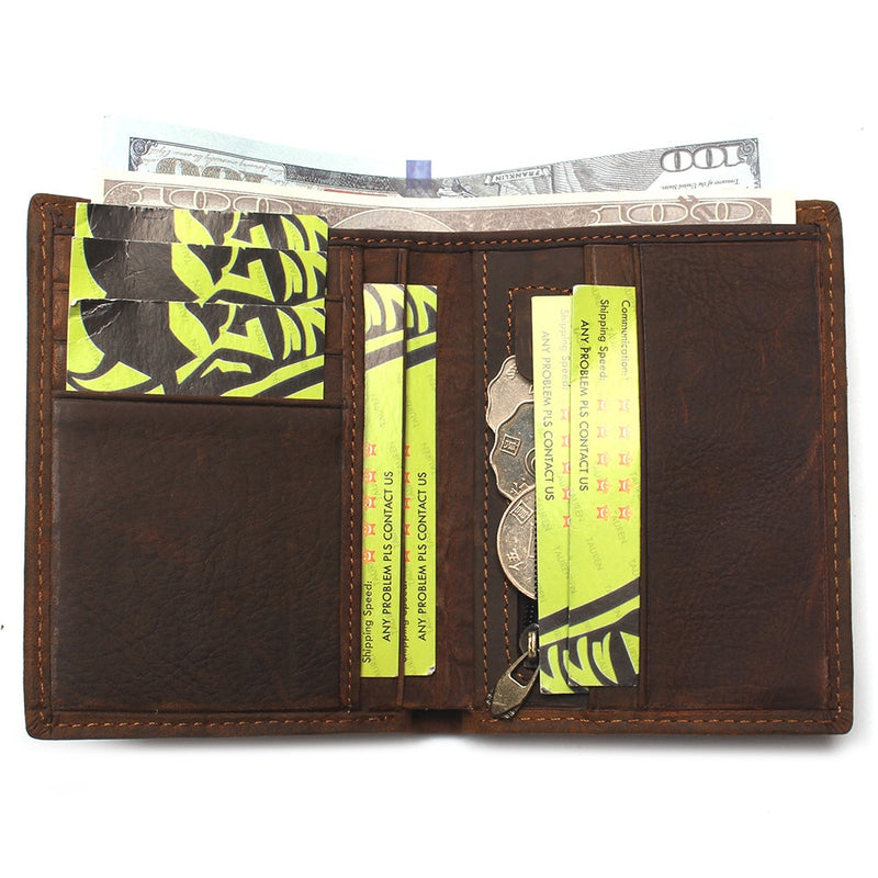 Exotic Fashion Crocodile Pattern Short Standard Cow Leather Wallets