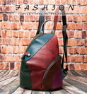 20L Patchworked Embossed Exotic Texture Leather Mini Softback Backpack
