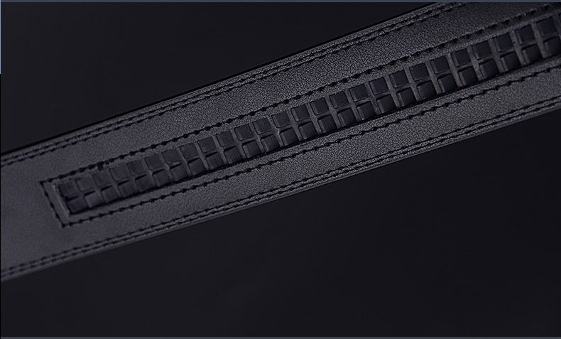 High-Quality Automatic Metal Buckle Exotic Leather Strap Belts
