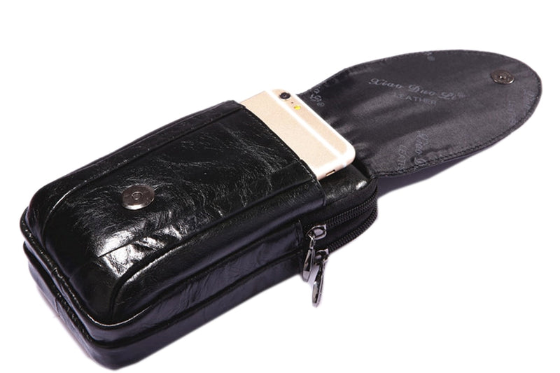 Crocodile Grain Pattern Cowhide Leather Cover Wallet