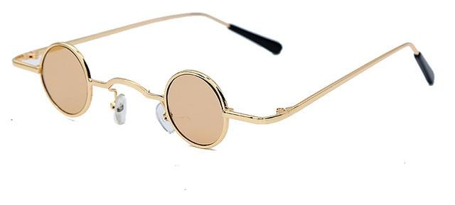 Vintage Retro Round Mirror Steampunk Small Gradient UV400 Sunglasses