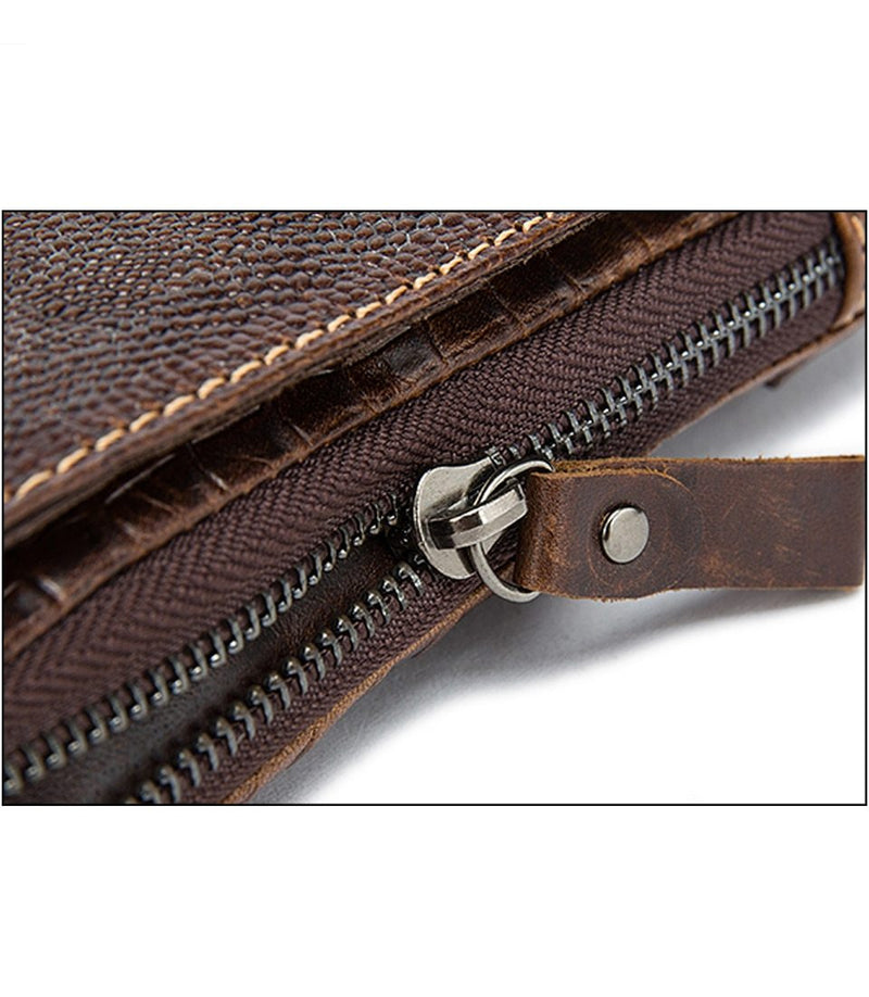 Alligator Pattern Leather Hasp Box Messenger Bag
