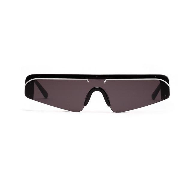 Cat Eye Small Half Frame Gradient Mirror UV400 Sport Sunglasses