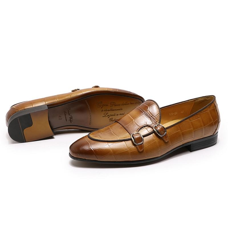 Casual Luxury Formal Genuine Cow Leather Slip On Loafers Shoes