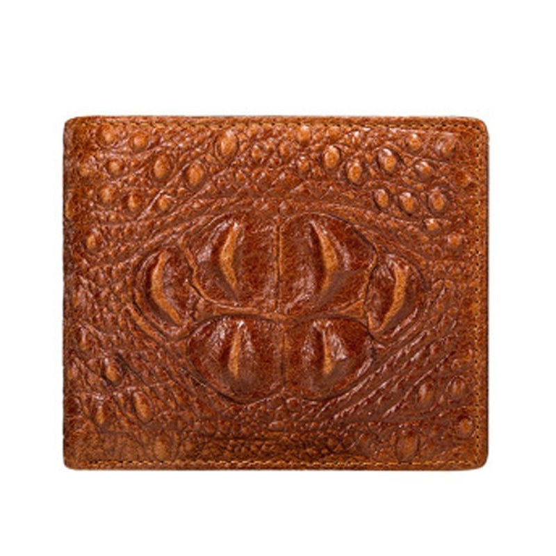 Luxury Vintage Cow Leather Crocodile Pattern Card Holder Design Wallet