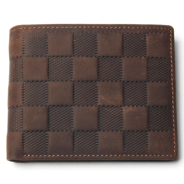 Classic Style Top Layer Leather Exotic Lattice Pattern Small Wallets