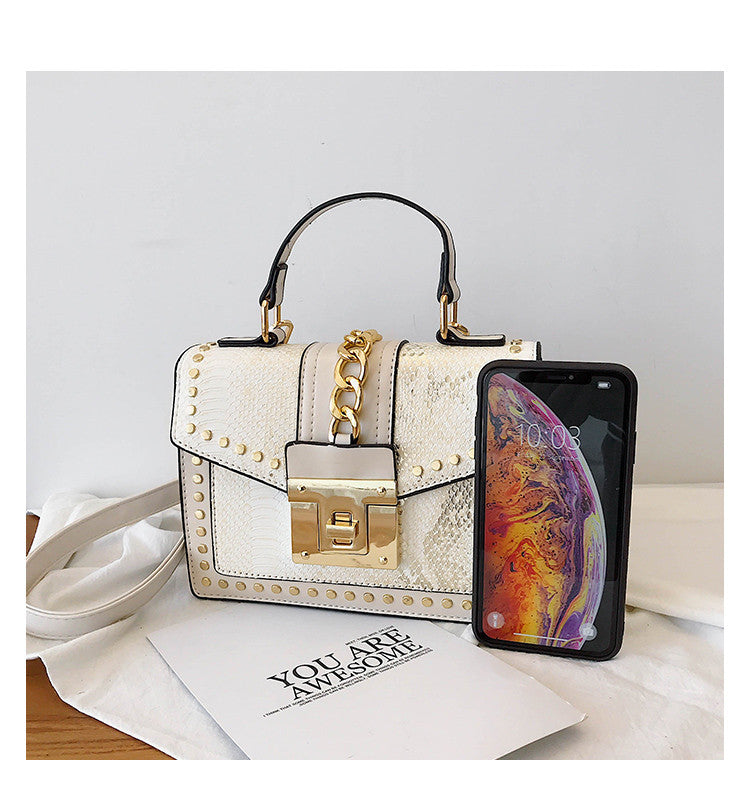 Exotic Pattern Elegant Sequins PU Leather Small Tote Messenger Bags
