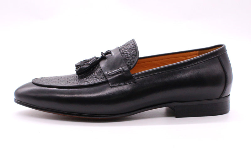 Exotic Texture Leather Casual Wedding Italian Style Slip On Loafers