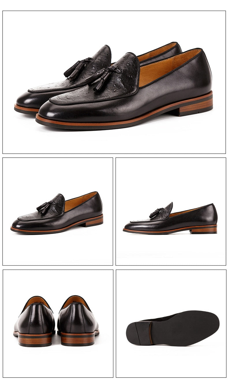Exotic Formal Fashion Leather Slip-On Loafers Shoes