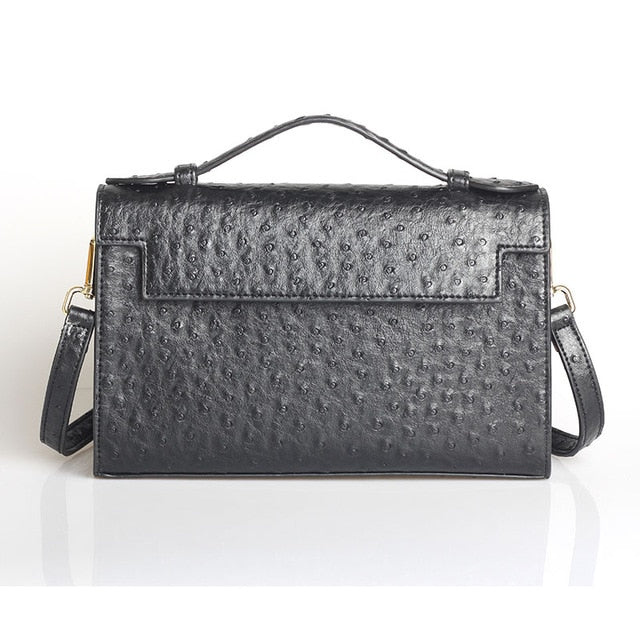 Python Exotic Texture Leather Flap Pocket Chain Clutch
