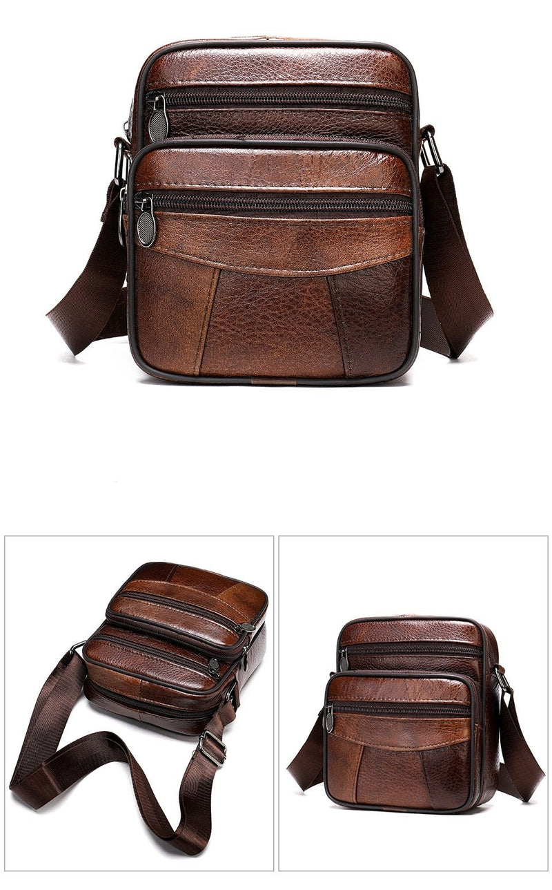 Exotic Soft Leather Small Zipper Flap Crossbody Messenger Bag