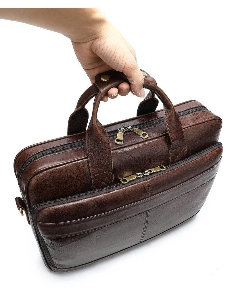 "Exotic Pattern Leather Soft Handle 15"" Laptop Briefcase"