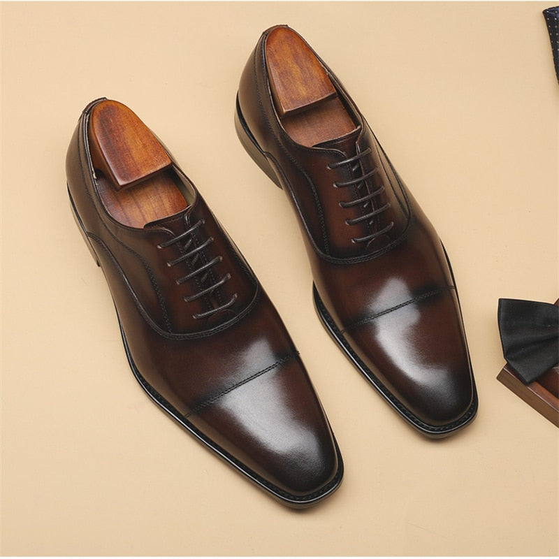Exotic Formal Fashion Leather Pointed Toe Oxford Dress Shoes