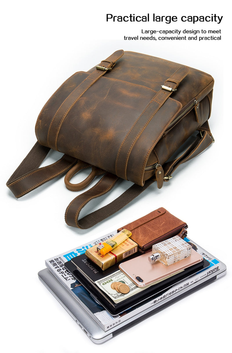 Exotic Vintage Fashion Leather Air Cushion Belt Softback Backpack