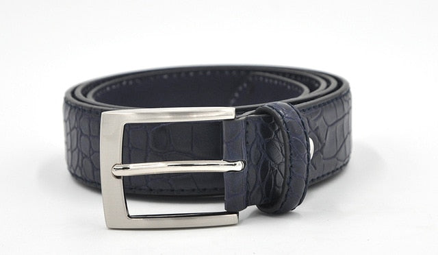 Exotic Alligator Textured Faux Leather Belt