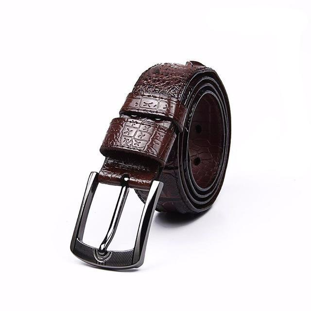 Original Alligator Pattern Leather Belt