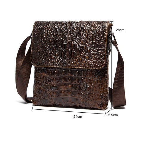 Image of Genuine Leather Brand Shoulder Bags