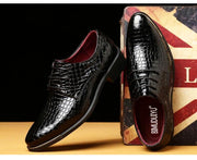 Bi-color Coco Embossed Derby Shoes