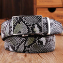 Faux Grain Snake Skin Leather Belt