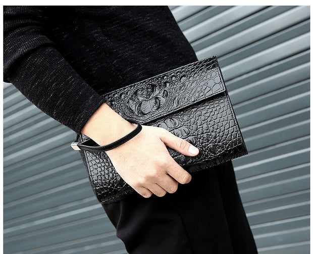 Crocodile Clutch Wallet