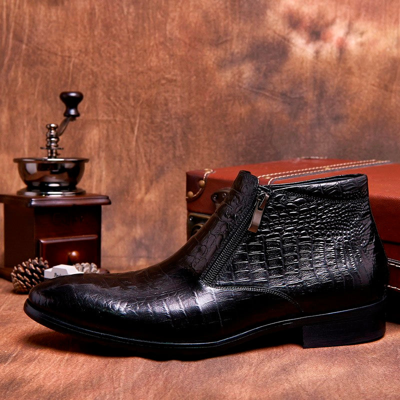 Deluxe Alligator Leather Chelsea Boots
