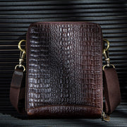 Men's Genuine Leather Crossbody Bags + Pouch
