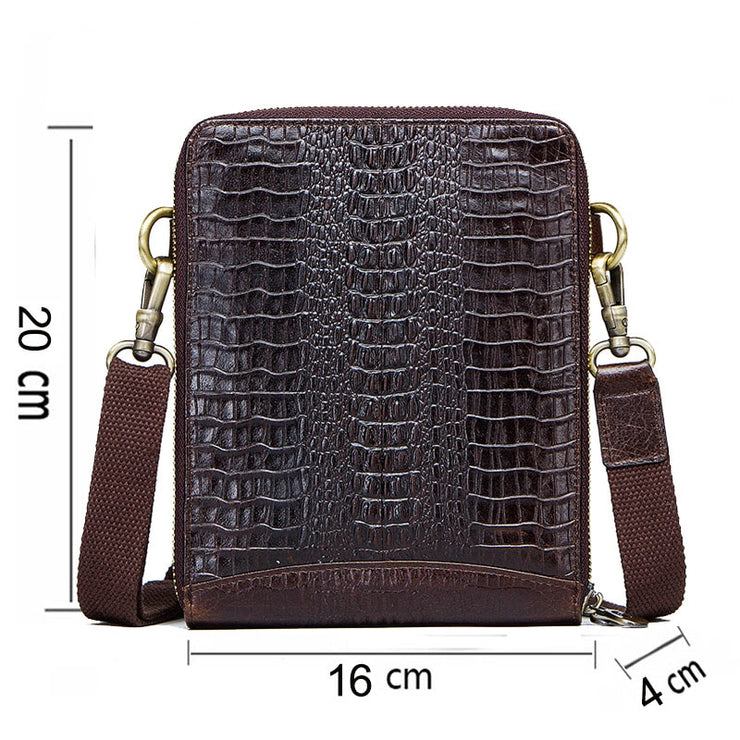 Genuine Leather Sling Bag with Pouch