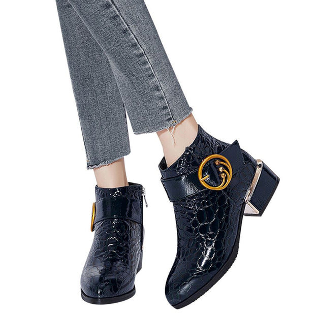 Alligator Ankle Boots