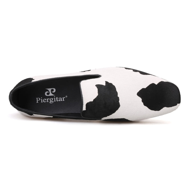 Horsehair Polka Dot Breathable Exotic Slip-On Canvas Loafers