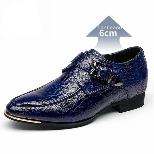 Casual Style Cow Leather Crocodile Grain Pattern Brogue Oxford Shoes