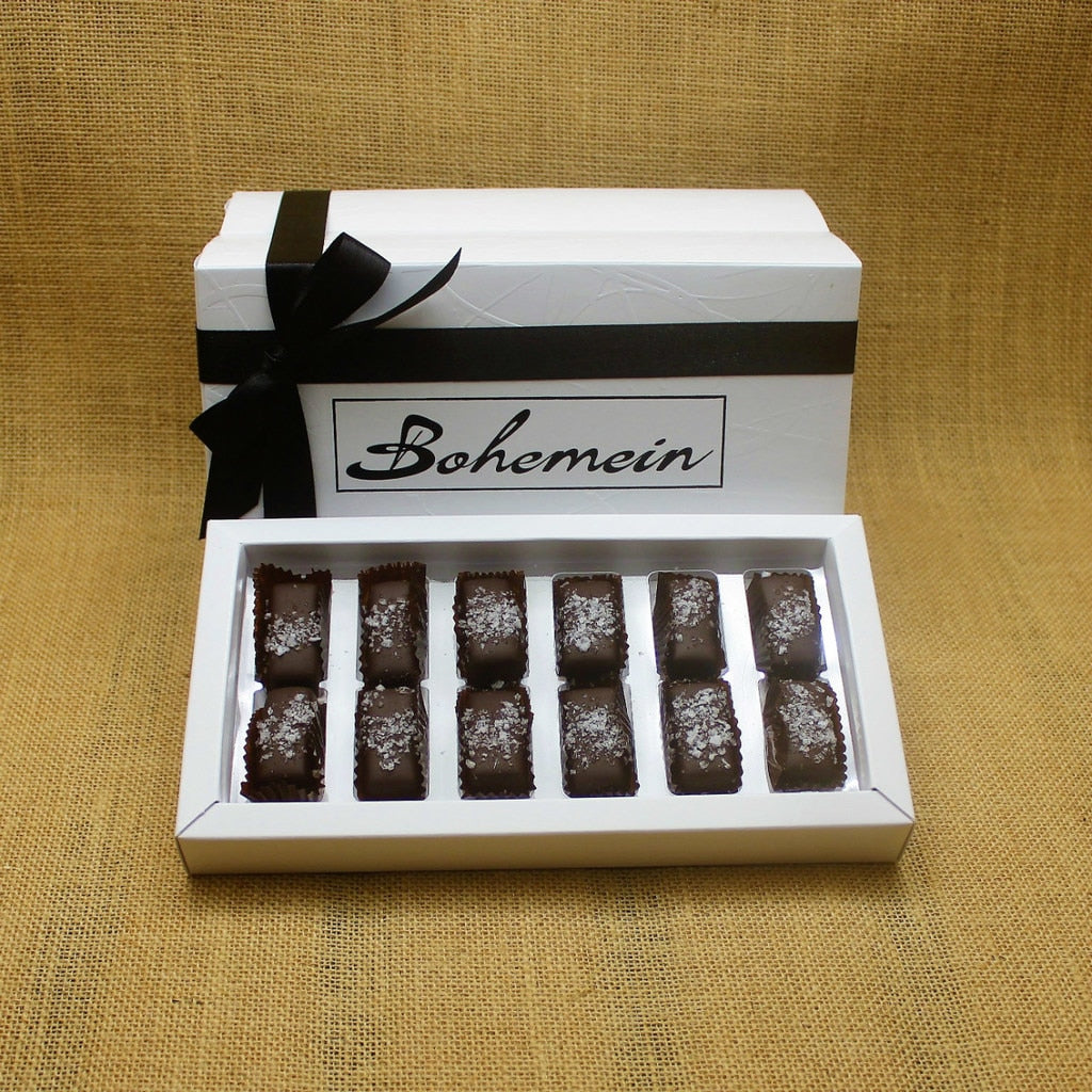 Box of 12 Bohemein Award-Winning Sea Salt Caramels