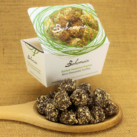 Bohemein Salted Hazelnut Praline Mini Chocolate Truffles