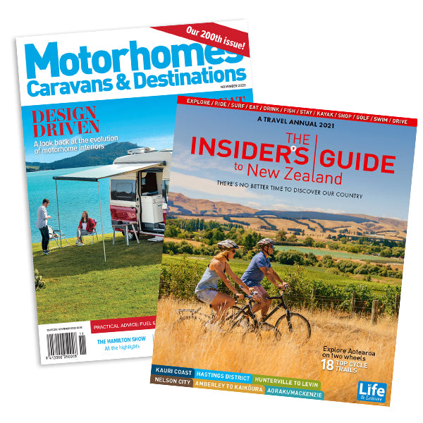 1 Year of Motorhomes Caravans & Destinations plus The Insiders Guide to New Zealand 2021