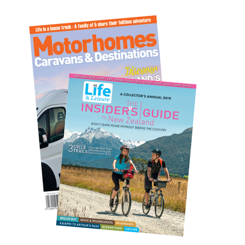 1 Year of Motorhomes Caravans & Destinations plus The Insiders Guide to New Zealand 2019