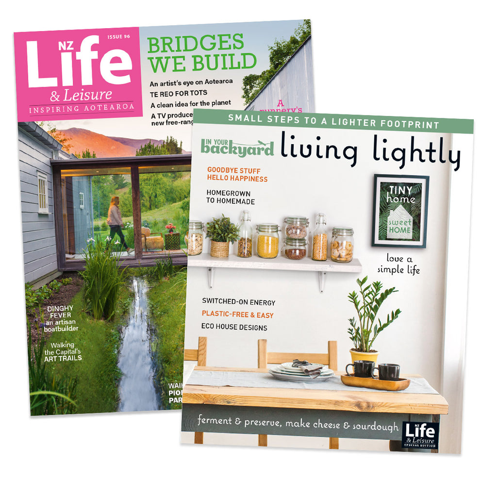 1 Year of NZ Life & Leisure plus In Your Backyard: Living Lightly