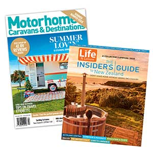 1 Year of Motorhomes Caravans & Destinations plus The Insiders Guide to New Zealand 2020