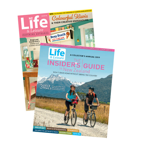 1 Year of NZ Life & Leisure plus The Insiders Guide to New Zealand 2019