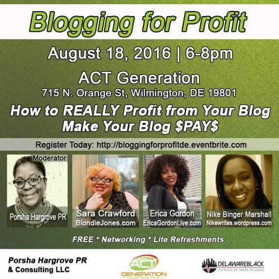 THE BLACK BLOGGERS – BLOGGING FOR PROFIT PANEL DISCUSSION