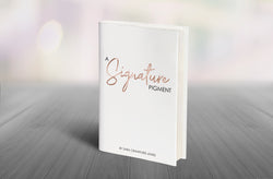 The Signature Pigment,  paperback book by Sara Crawford Jones - Blondie Jones