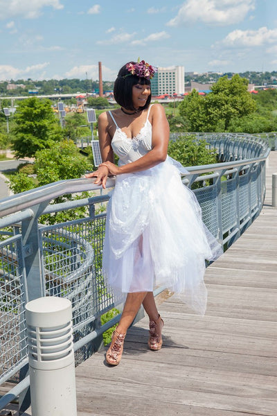 Offbeat Bridal Embroidered Midi Tutu - Blondie Jones
