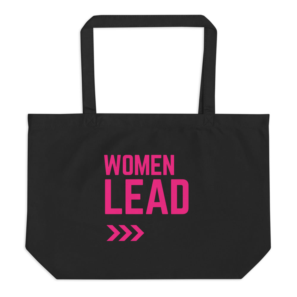 Women Lead Large organic tote bag
