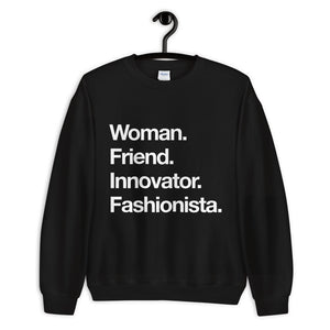 Woman. Friend.  Sweatshirt