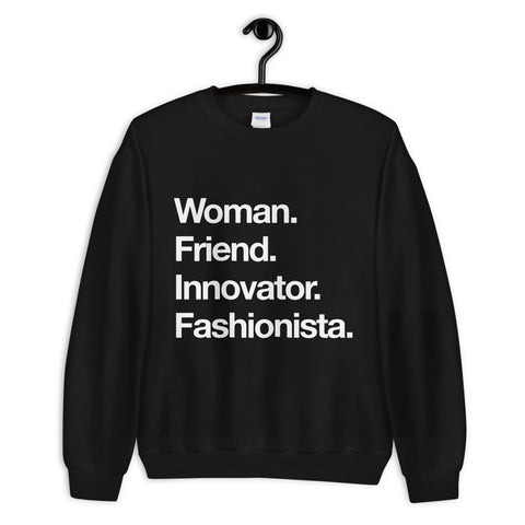 Woman. Friend.  Sweatshirt - Blondie Jones