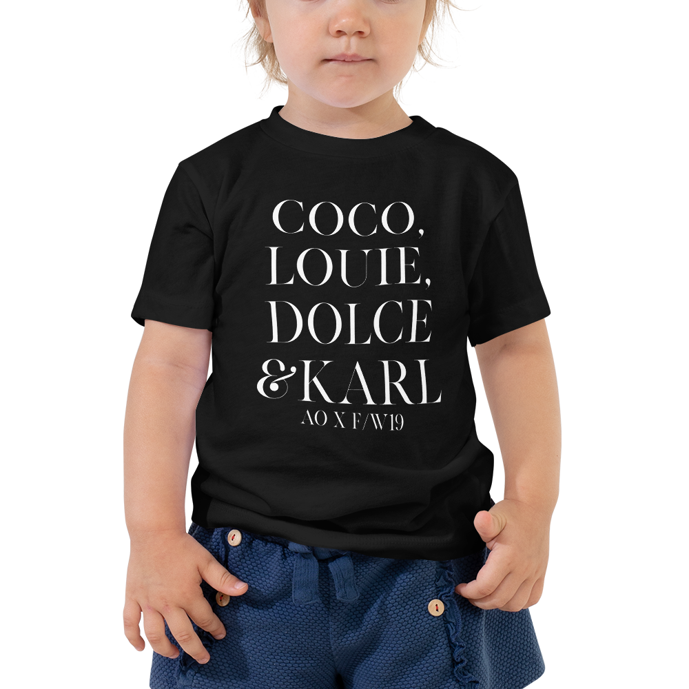 Coco Louie Dolce Karl Toddler Tee - Blondie Jones