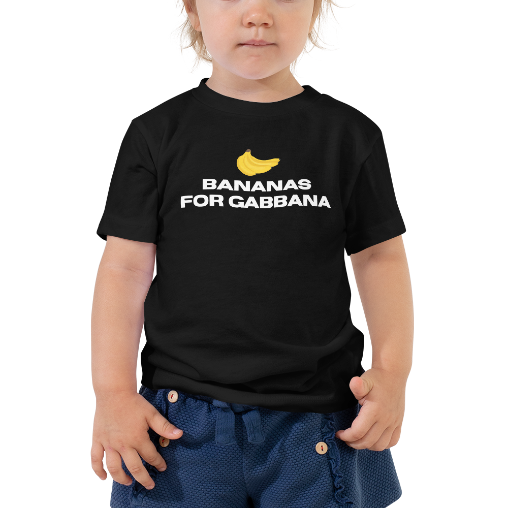 Bananas for Gabbana Toddler Tee - Blondie Jones