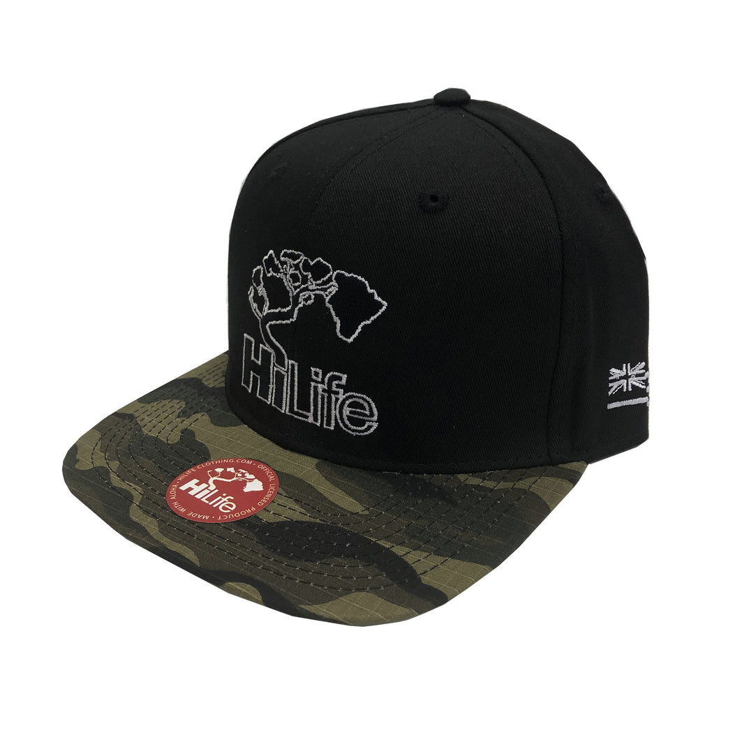 BASIC LOGO Snapback hats  Camo/Black
