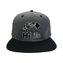 BASIC LOGO Snapback hats Dark Heather/Black