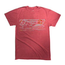 Beach Walk Waikiki map Dye Tee